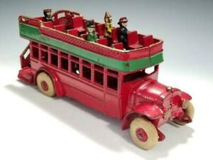 1920's~Kenton DOUBLE DECKER BUS with PASSENGERS~All ORIGINAL BEAUTY