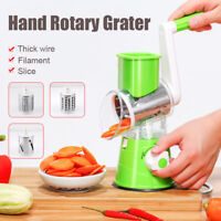 Multifunctional Manual Vegetable Cutter Slicer Grater Grinder Kitchen+3 Blades