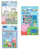 Peppa Pig Branded Colouring Arts Crafts Pencil Crayons Travel Activity Book