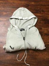 K-YEN Full Zip Up Long Sleeve Gray Long Hooded Sweatshirt Hoodie Women's Size M
