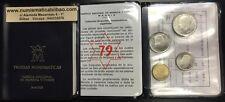 ESPAÑA CARTERA FNMT 1979 PROOF 1+5+25 PESETAS 1975 * 79 PRUEBAS NUMISMATICAS