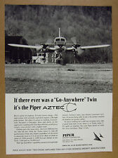 1967 Piper Aztec C airplane aircraft landing photo vintage print Ad