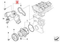 BMW E38 E39 E46 E53 E60 Wasserpumpe Thermostatgehäuse 1437040 11531437040 Neu