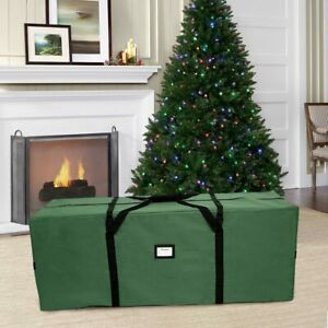 Christmas Tree Storage Bag For Up to 9 ft Artificial Tree With Handles Red Green