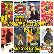 Vintage Horror Film Posters Vol 1 A3 - Classic Movie Prints Home Decor Wall Art