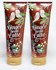 2 Bath & Body Works ICED GINGERBREAD LATTE Hand & Body Cream