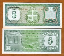 Aruba, 5 florin, 1986, P-1, UNC > First Banknote