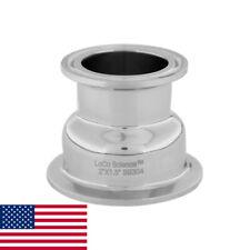 2 X 15 Tri Clamp Hemispherical Bowl Reducer Ss304 Loco Science