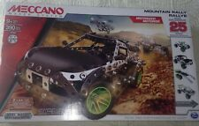 NEW~#15207 Meccano~390 Pc.Mountain Rally Motorized Metal Set Over 24 Models
