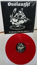Onslaught Power From Hell RED Vinyl LP Record new