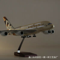 1/130 A380 43cm Etihad Airplane LED Lamp Resin Aircraft  Passanger Plane Model