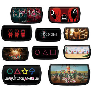 Squid Game Polyester Pencil Case Pen Bag Storage Make Up Pouch HD Printing Bag