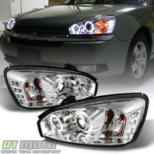 2004-2007 Chevy Malibu DRL Halo Projector Headlights w/LED Daytime Running Light
