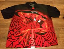 Men's changes large comic 2001 Marvel Spiderman button up jacket
