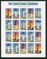 New England Coastal Lighthouses Sheet of 20 Forever Stamps Scott 4791-95