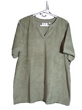 D & CO Woman's Green Shirt Extra Large