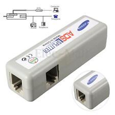 3 RJ11 ADSL Line Splitter Fax Modem Broadband Phone Network Jack Noise Filter