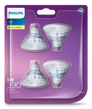 4 x Premium Philips LED Downlight Globes / Bulbs 5W 12V MR16 GU5.3 Warm White