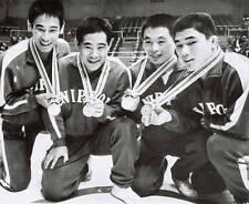Old Photo, 1964 Olympic Japan wrestling gold Yoshida Watanabe Uetake Horiuchi