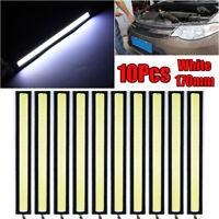 10x 12V LED STRIP DRL DAYTIME RUNNING LIGHTS FOG COB CAR LAMP WHITE DAY DRIVING