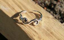 Silver New Jewellery Free Shipping Curling Toe Ring Adjustable Fine Sterling