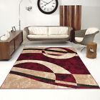 salon Tapis joli motif nombreux variantes Tapis design en rouge