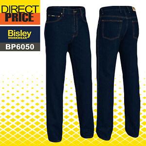 Bisley Work Denim Jeans BP6050 Rough Rider 100% Cotton YKK Zipper 5 Pocket NEW