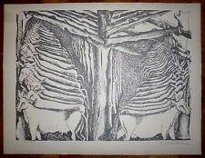 Zadkine Ossip Lithographie signée numérotée sculpteur cubiste art abstrait