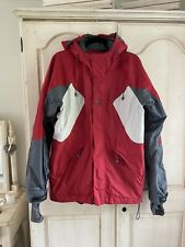 Helly Hansen red and grey panelled men's ski jacket- size M