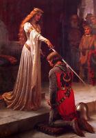 "Dream-art Oil painting Edmund Blair Leighton The Accolade princess & sword 36"""