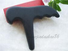 Gua Sha Massage Black Bian Stone  Natural  Health Cure Tool  110X85X10mm