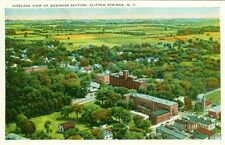 Clifton Springs,Ny. A 1940 Airplane view of the Business Section