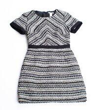 Womens H&M Black & White Tweed Short Sleeve Sheath Dress Size 6