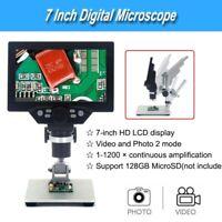 G1200 Digital Microscope 1200X FHD LCD 7 Inch Video Endoscope Camera Magnifier