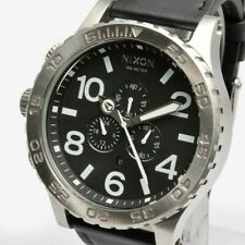 New Authentic Nixon A124000  Watch Mens 51-30 Chrono Leather Black