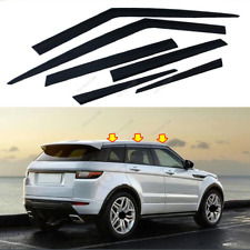 Window Vent Shades Sun Rain Guard Black For Land Rover Range Rover Evoque 12-19