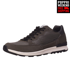 POPPRI WEEKEND: GAS Size EU 44 UK9.5 Suede Leather Trim Lace-Up Low Top Sneakers