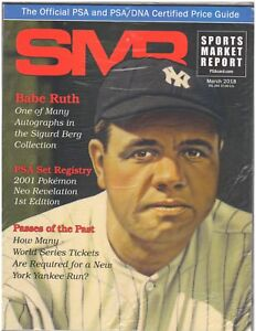March 2018 SMR Sports Market Report Price Guide New Never Read Sealed Babe Ruth