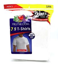 7 White Small S 34-36 Inch Crew Neck T-Shirts Fruit Of The Loom C / P 86-91 CM