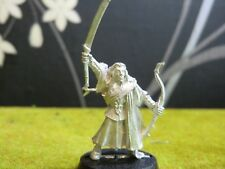 WARHAMMER LOTR - WOODLAND ELF COMMAND CAPTAIN WITH SWORD AND BOW (METAL MODEL)