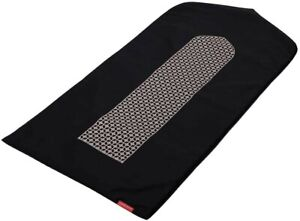Visual Dhikr Black arch-shaped prayer mat rug Musalla Mashrabiya