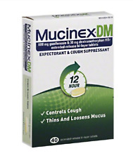 McK Mucinex Cough Relief DM 600 mg / 30 mg Strength Tablet 40 per Bottle