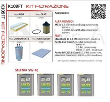 Set Service Fiat Grande Punto 1.3 Multijet 55kw von 2012 + 4L Selenia 5W40