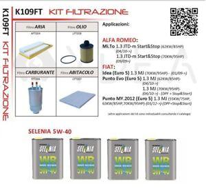 Inspection Set Fiat Grande Punto 1.3 Multijet 55kw From 2012+ 4L Selenia 5W40
