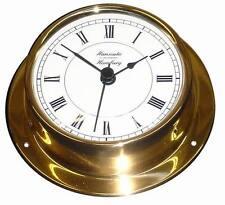 Horloge Quartz (batterie) 110 mm LAITON légèrement Horloge navire-Instrument