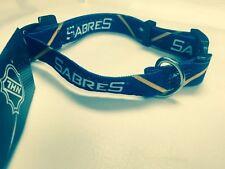 """NHL Buffalo Sabres Adjustable Nylon Dog Collar, Medium (14"""" - 20""""), Ships Free"""