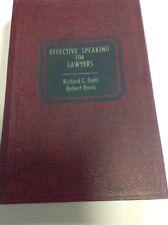 Effective Speaking For Lawyers Dahl Davis HB 1969