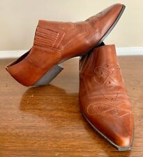 DOLCIS Leather Ankle Slip On Boots - Womens 8M Short Heel