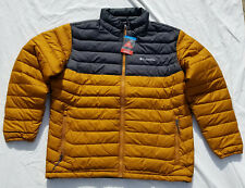 Columbia Powder Lite Puffy Puffer Jacket Amber Black Omni Heat Men's XXL NWT