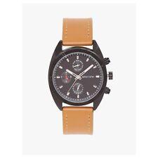 Ashton Carter Multi Function Black / Tan Watch - AC-1001-C - 2 Year MANUF WRNTY